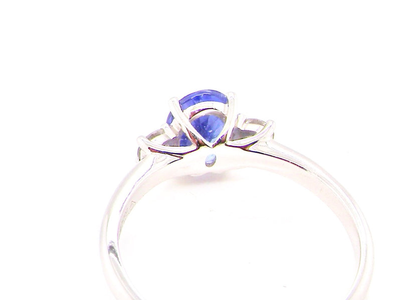 A modern near new tanzanite and diamond ring