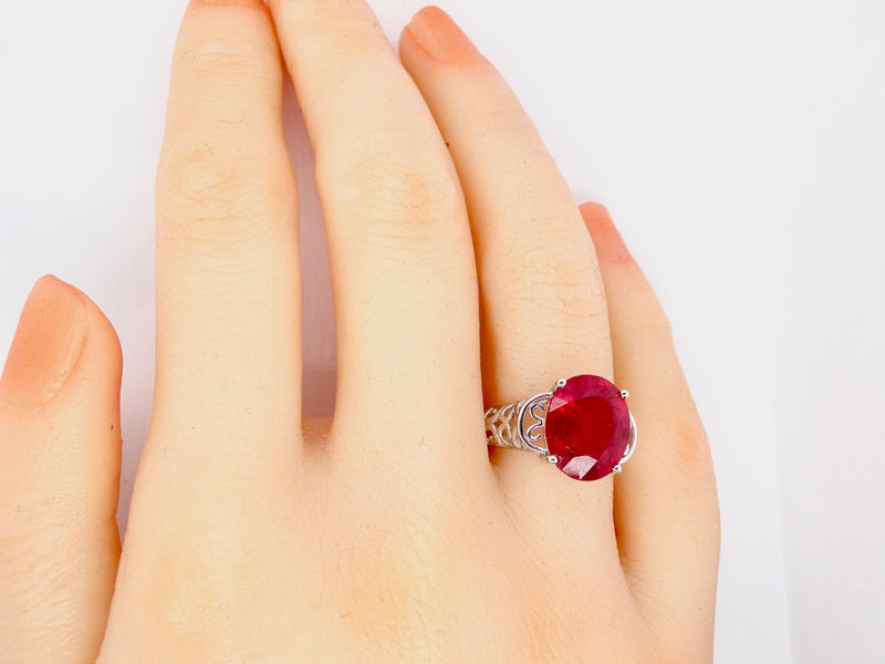A single stone ruby dress ring