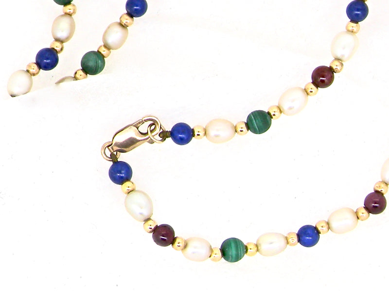 A multi gemstone necklace