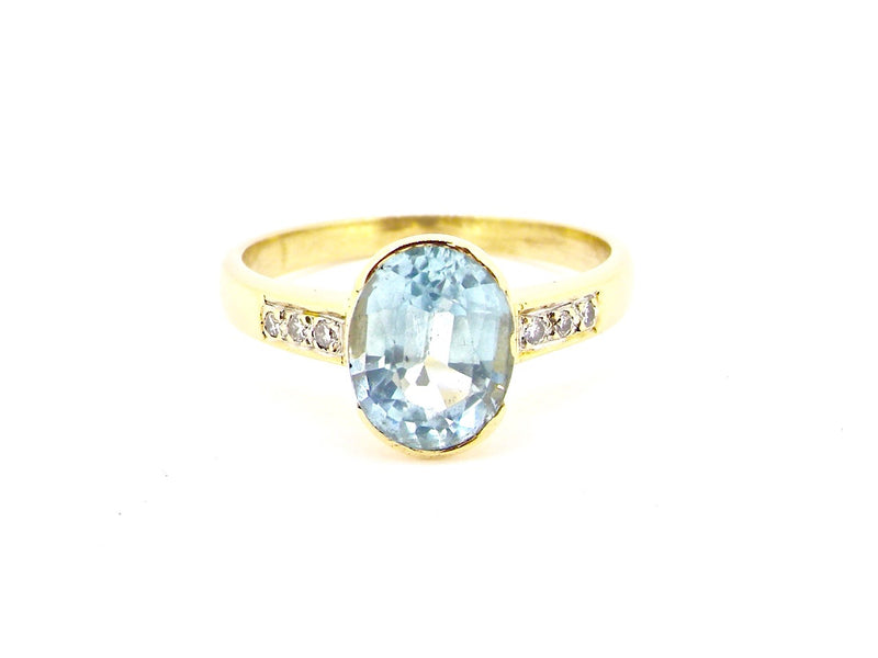 An aquamarine and diamond ring *RESERVED*