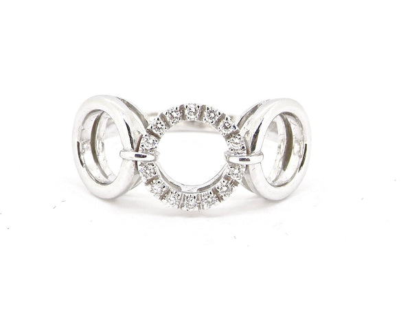 A designer style diamond dress ring