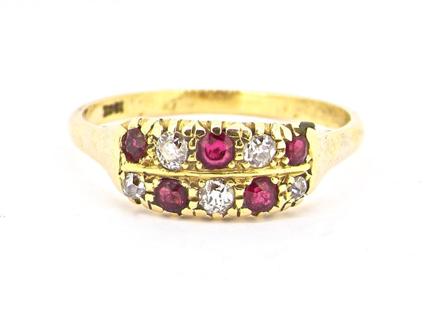 An Edwardian ruby and diamond ring