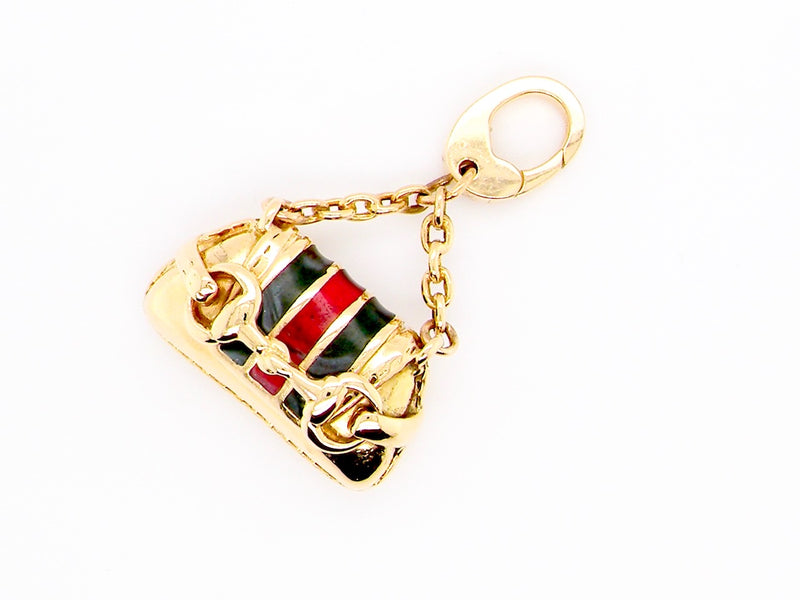 A rare and original Gucci 18 carat gold handbag charm