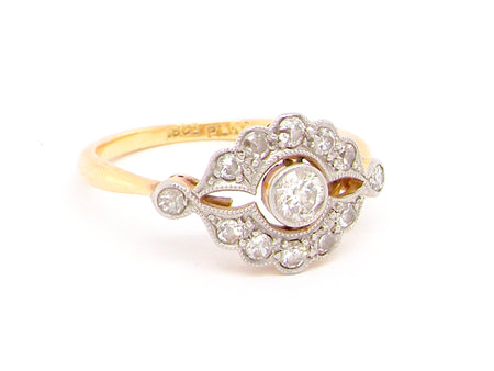 A fine Edwardian period diamond ring