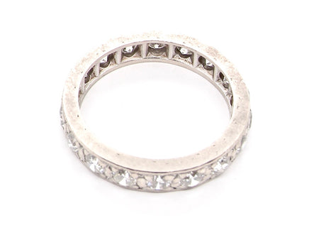 A platinum diamond full eternity ring