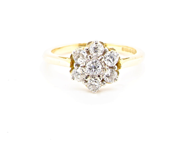 A lovely 1930s vintage sapphire and diamond cluster ring *SOLD*