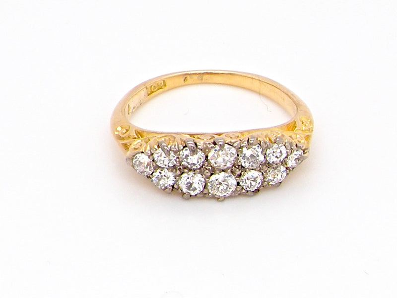 A fine Edwardian diamond cluster ring