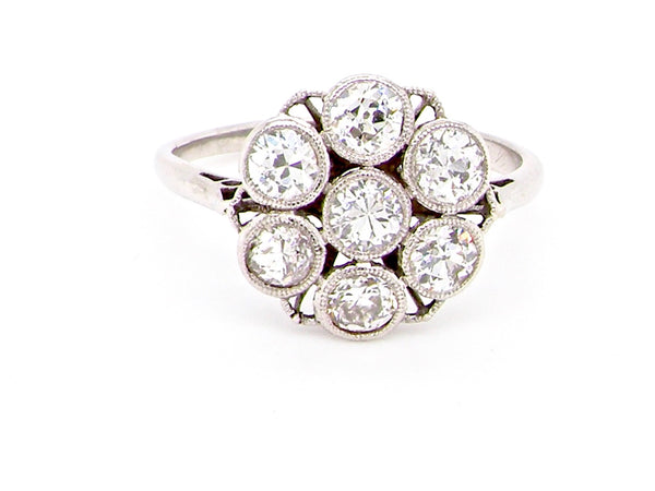 An Art Deco period vintage diamond cluster ring *SOLD*