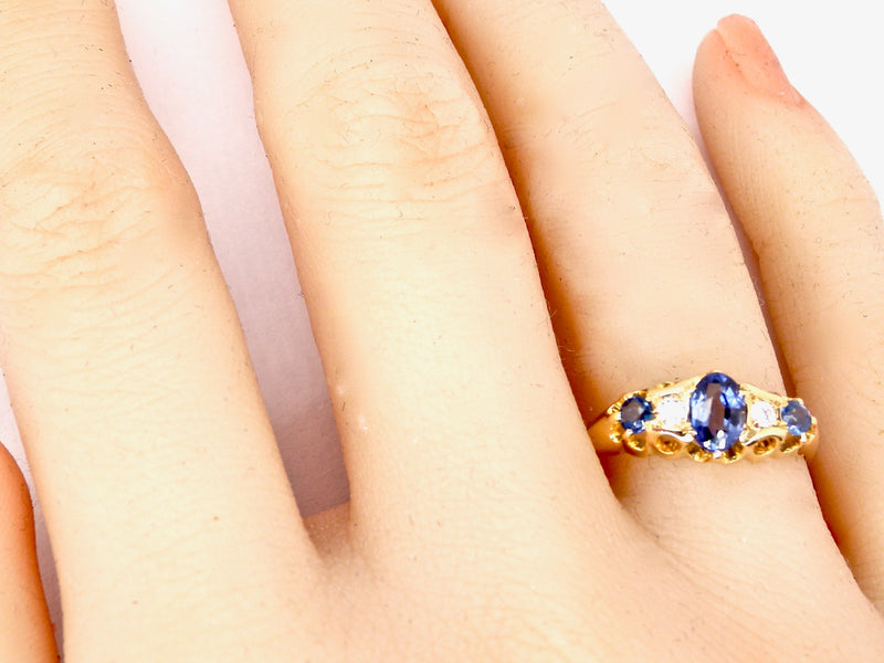 A fine antique sapphire and diamond ring