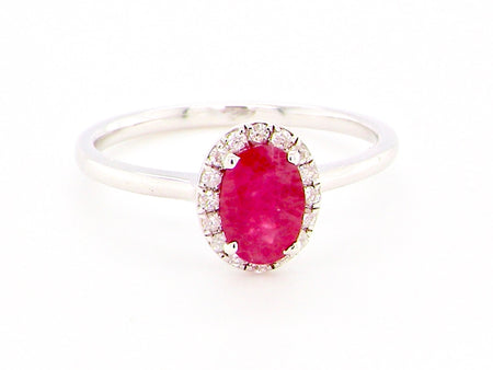 A ruby and diamond cluster ring with certificate