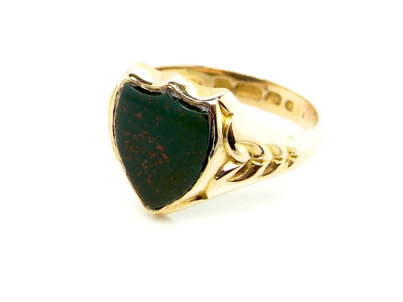 A fine Victorian bloodstone signet ring