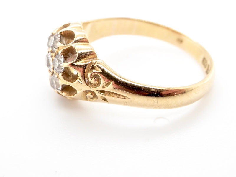 An early 20th century antique 18ct gold diamond ring