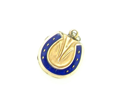 A Victorian horseshoe locket