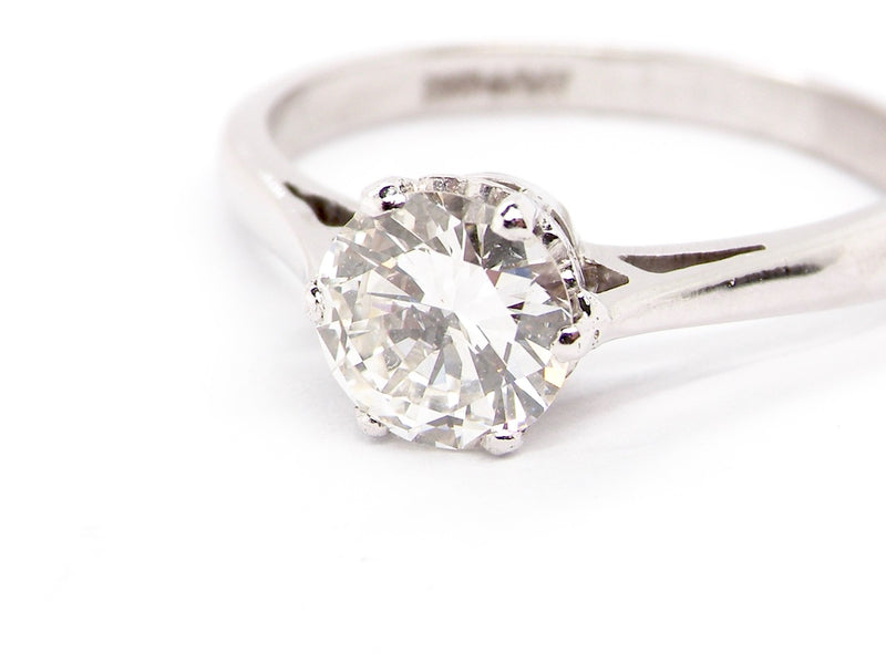 A fine solitaire diamond ring *RESERVED*