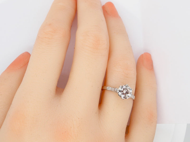 A fine platinum solitaire diamond ring *RESERVED*