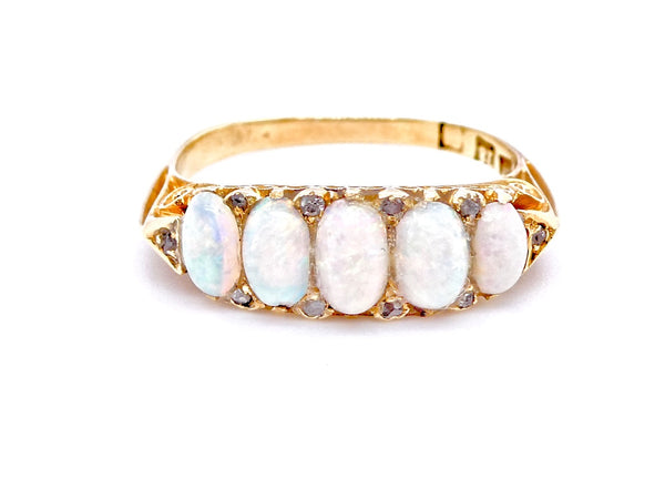 A late Victorian opal and diamond ring *RESERVED*