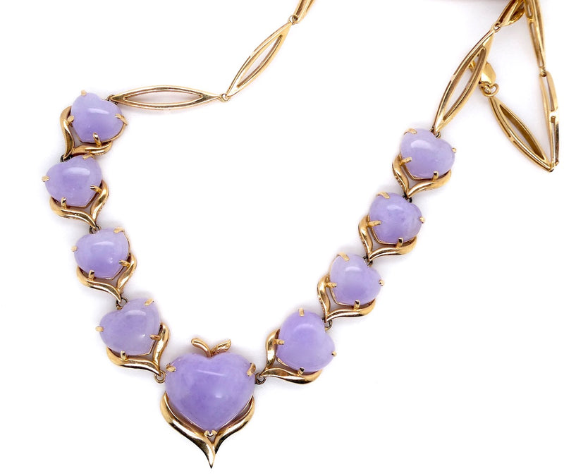 A lavender jade necklace