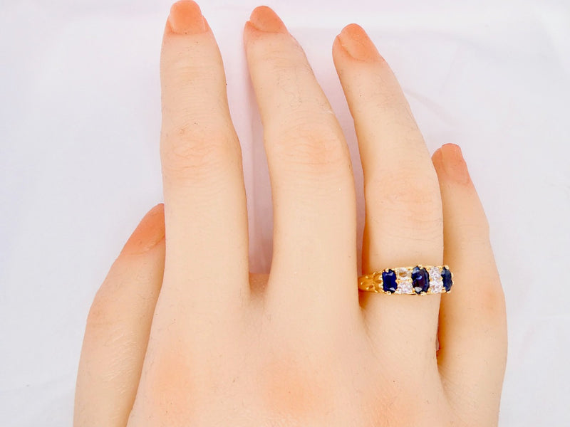 A vintage sapphire and diamond ring