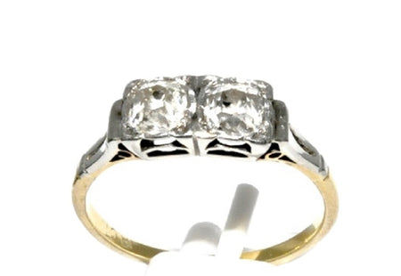 A vintage two stone diamond ring