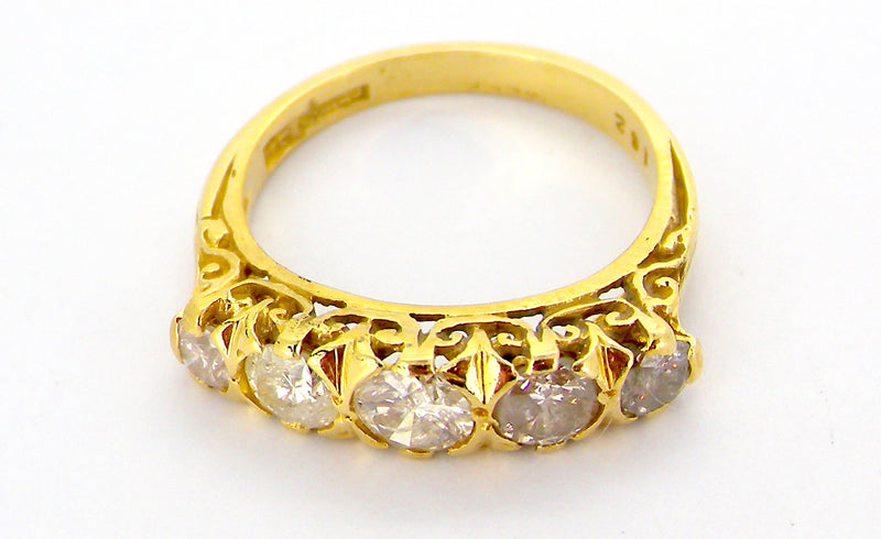 A Victorian style five stone diamond ring *RESERVED*