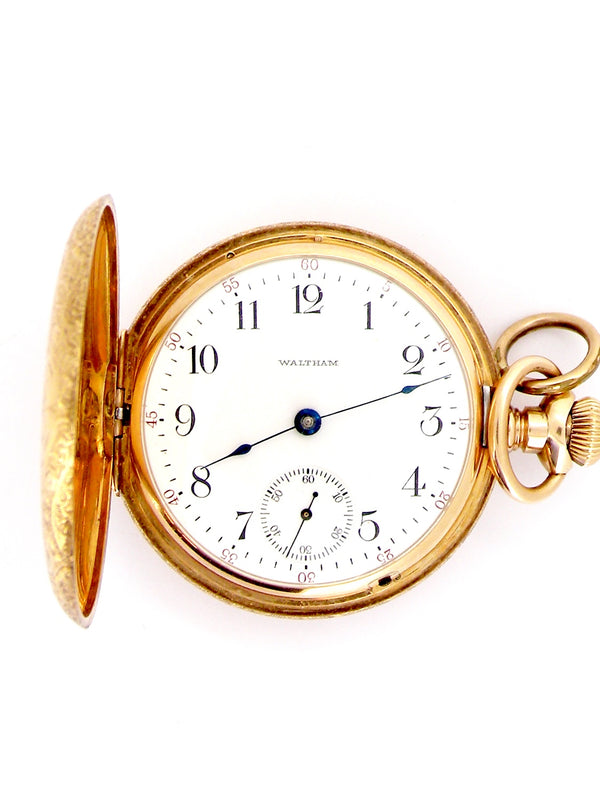 A fine full hunter Waltham pocket watch
