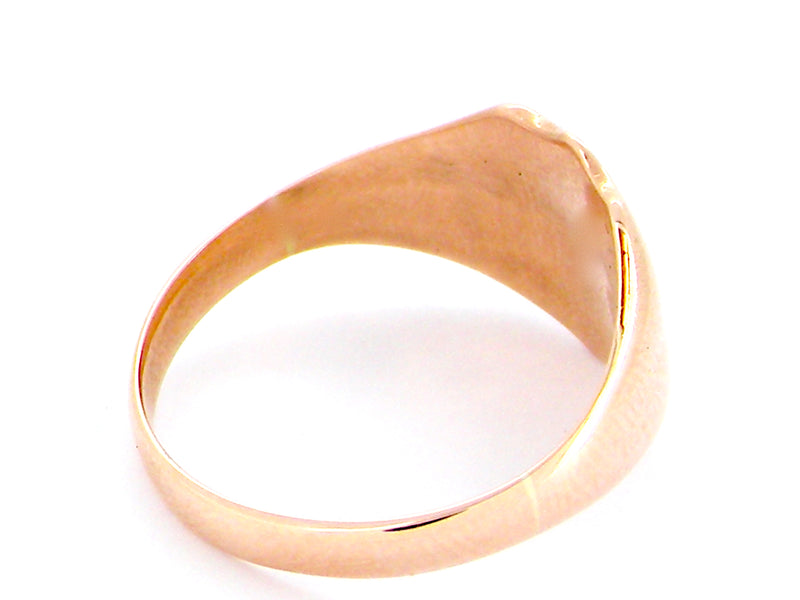 A man's 9 carat rose gold signet ring