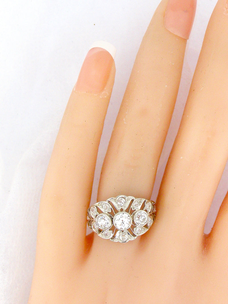 A fine platinum Edwardian diamond cluster ring-7 DAY OFFER ONLY-SAVE £800!