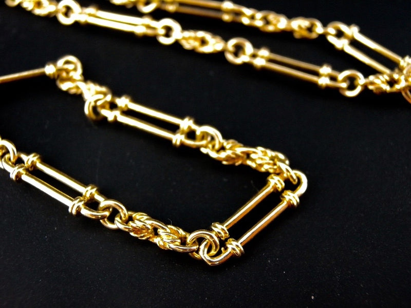 A gold watch chain