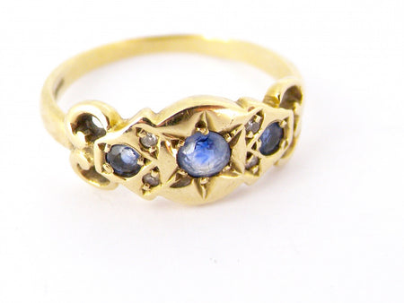 A victorian style sapphire and diamond ring