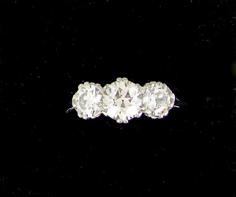 A fine 2.25 carat three stone diamond ring-SAVE ALMOST £2000!