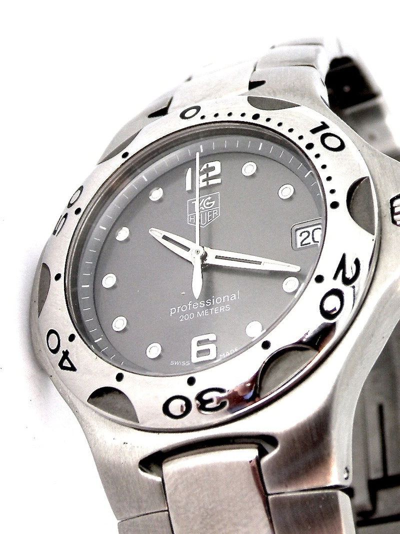 A man's stainless steel Tag Kirium wrist watch