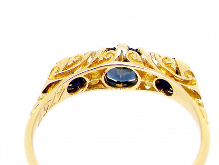 An Edwardian 18 carat gold sapphire and diamond