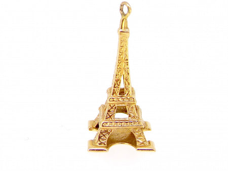 A charm in the shape of the Eiffel Tower