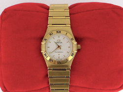 A woman's 18 carat gold Omega Constellation watch