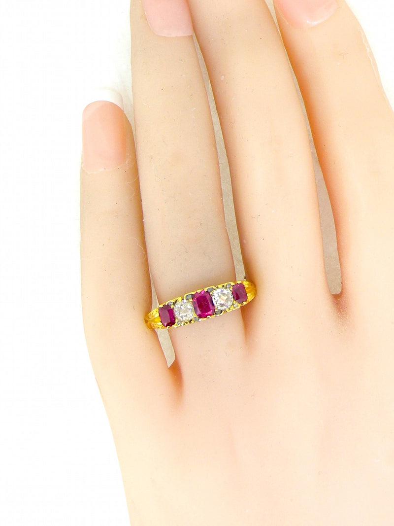A fine Victorian ruby and diamond ring