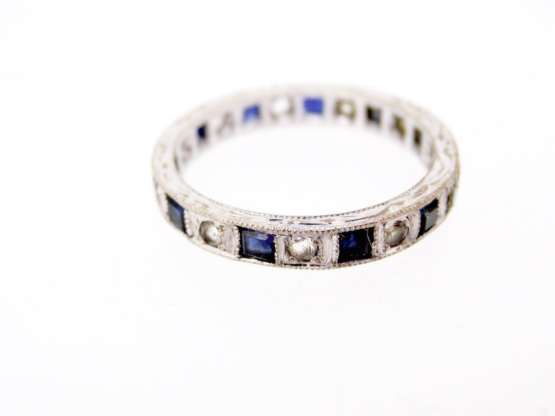 A blue and white spinel full eternity ring