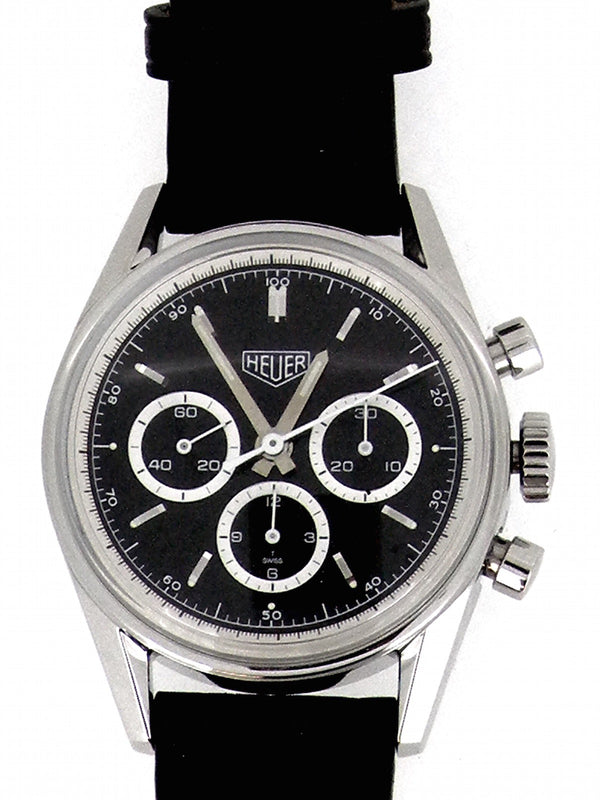 Heuer re-edition Carrera chronograph watch by Tag Heuer.