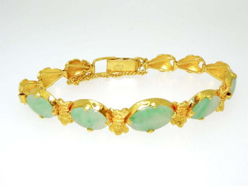 A high carat gold jade bracelet