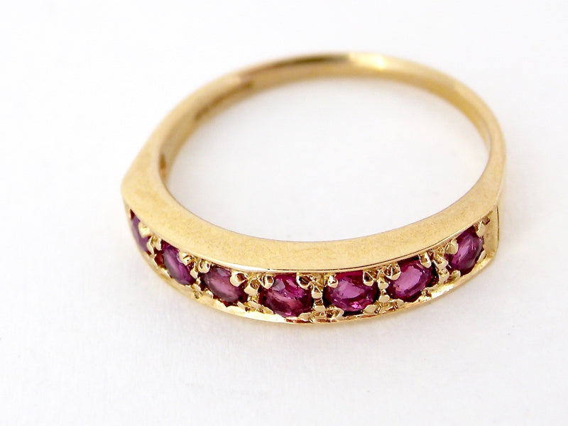 A ruby eternity ring