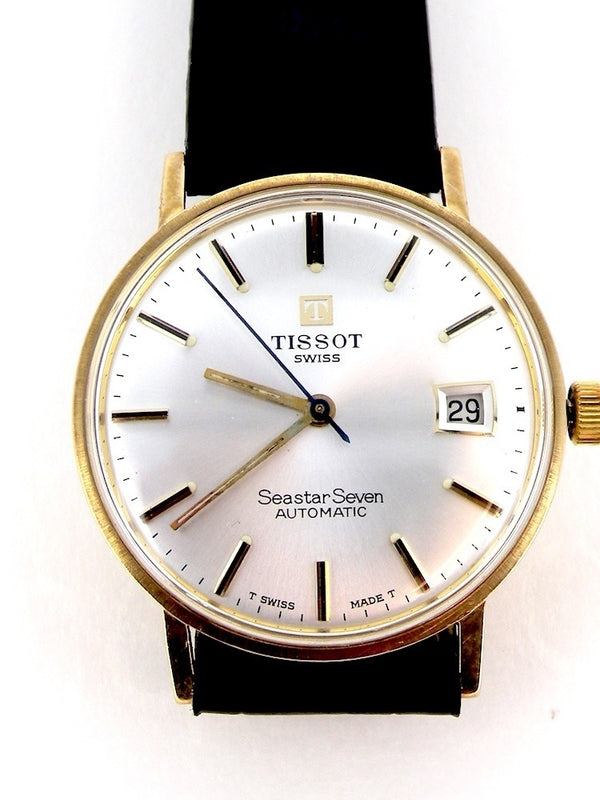 A man's 9 carat gold Tissot wrist watch