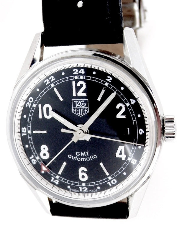 A man's Tag Heuer GMT wrist watch