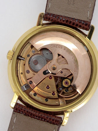 An Omega 18 carat gold Constellation mans wrist watch
