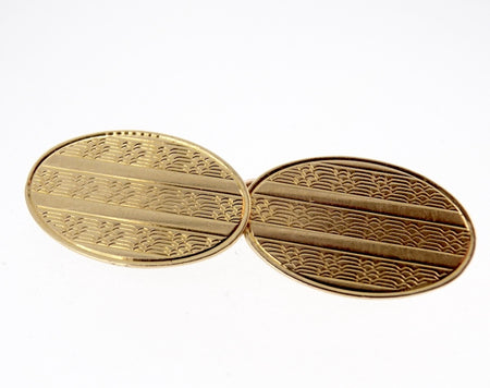 A pair of 9 carat gold double cufflinks hallmarked Birmingham 1903