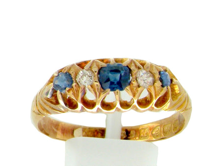 An Edwardian sapphire and diamond ring