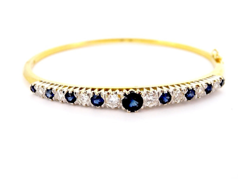 A lovely sapphire and diamond bangle