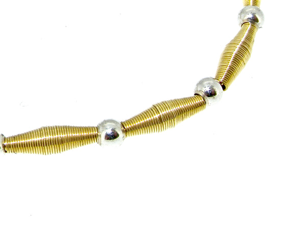 A modern gold necklace