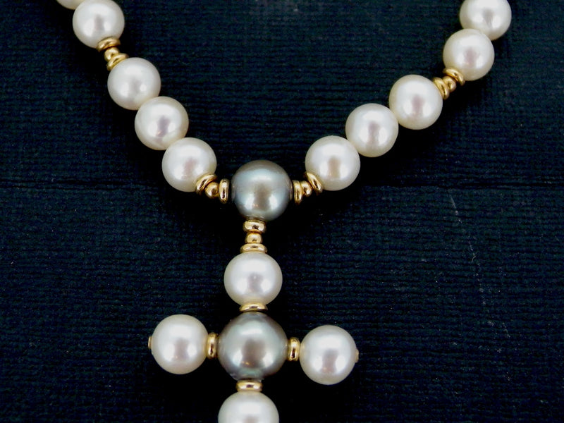 A cultured pearl necklace-REDUCED