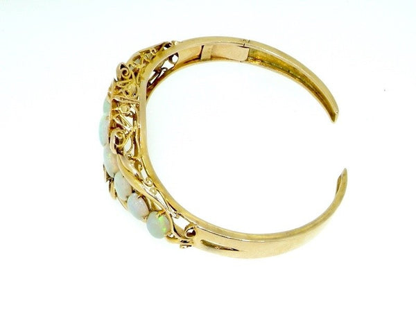 An 18 carat gold opal bangle-BIG REDUCTION!