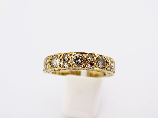 A half hoop diamond eternity ring