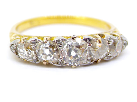 A Victorian five stone diamond ring-save £1000 on the full price!